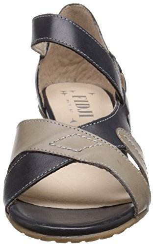 Fidji Womens V635 Dress Sandal Black/Grey DSVko