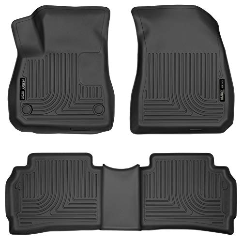 Husky Liners 99191 Black Front & 2nd Seat Floor Liners Fits 16-19 Chevrolet Malibu ()