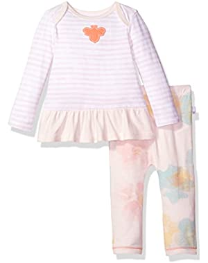 Baby Girls' Organic Long Sleeve Dress and Pant Set