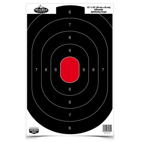Birchwood Casey Dirty Bird Silhouette Target (Per 50), 12 x 18-Inch