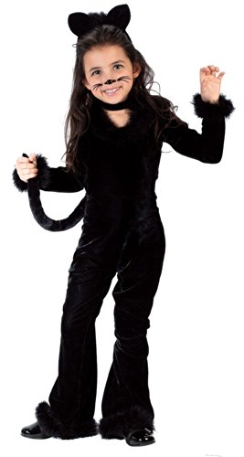 Fun World Costumes Baby Girl's Toddler Playful Kitty Costume, Black, Large (3T-4T)