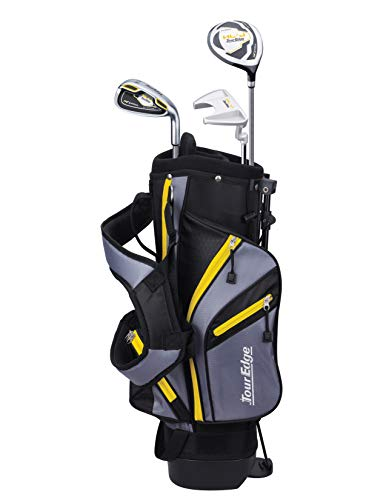 Tour Edge HL-J Junior Complete Golf Set with Bag (Right Hand, Graphite, 1 Putter, 1 Iron, 1 Wood 3-6 YRS) Yellow