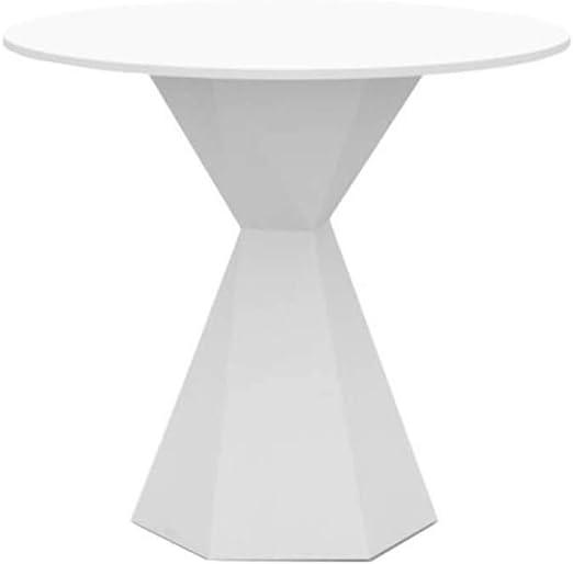 Vondom Vertex mesa redonda de exterior diam.80 cm blanco: Amazon ...