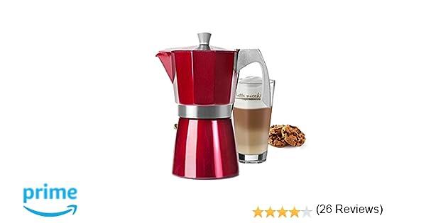 IBILI 623212 CAFETERA Express EVVA Red 12 Tazas: Amazon.es: Hogar
