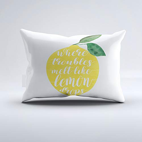 Zippered Pillow Covers Pillowcases One Side 20x36 Inch Where Troubles Melt Like Lemon Drops Pillow Cases Cushion Cover for Home Sofa Bedding