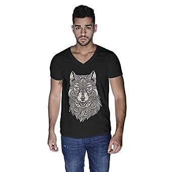 Creo Wolf Animal T-Shirt For Men - L, Black