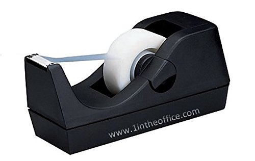Large Product Image of 1InTheOffice Desktop Tape Dispenser, Black