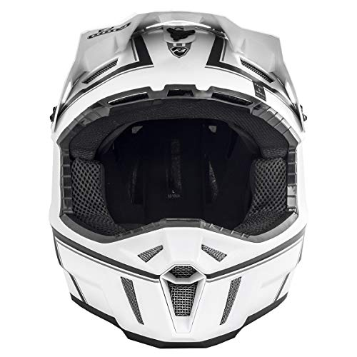 Pinstripe Dot White Helmet - KLIM F3 Helmet ECE/DOT LG White Black Pinstripes (Non-Current)