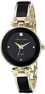 Anne Klein Women's AK/1980BKGB Diamond-Accented Dial Black and Gold-Tone Bangle Watch (B00ZHJDT7U) | Amazon Products