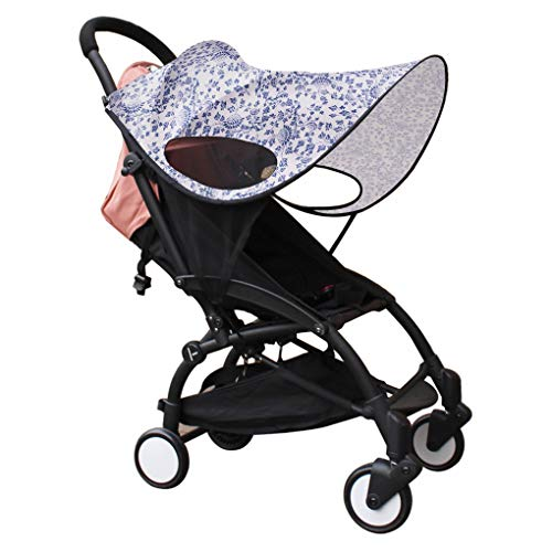 Baby Stroller Sun Shade Sun Protection Pram for Strollers Car Pushchair Buggy Sunshade Parasol Sun Rain Canopy Cover Protection Stroller Accessories Awning Anti-UV Umbrella Sun Shade
