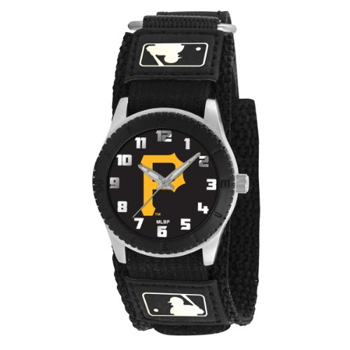 (Game Time Kids' MLB-ROB-PIT2 Rookie Black Analog Display Japanese Quartz Black Watch )