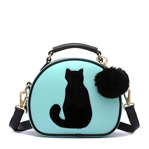 Cat handbag Leather Pu Body Shoulder Waterproof Green Cross Bags Lucky Women's Wallet Beige SAHqf