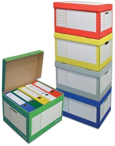Pressel Archivbox, Klappdeckel, 41x35x30cm, i: 39x33x29cm, 5farbig sortiert