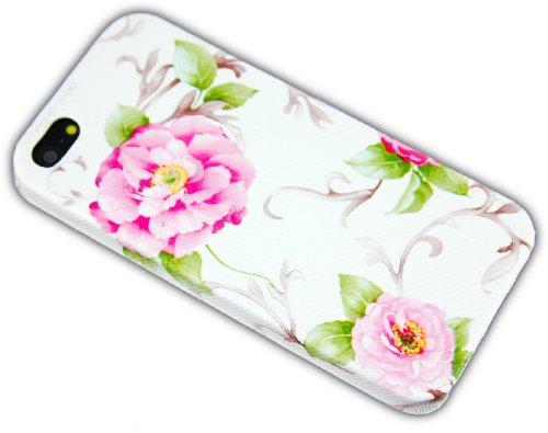 Apple iPhone 55S au design fleurs Hard Case de protection Etui Housse Coque Étui Coque Cover thematys®