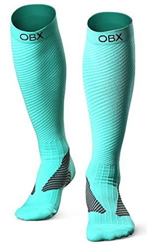 OBX Compression Socks for Men & Women-Professional Fit for Ruining&Racing-Knee High Socks for Athletics,Marathon,Travel,Shin Splints,hiking&Outdoor sports-Best for Muscle Recovery(1 pair) by OBX (Image #7)