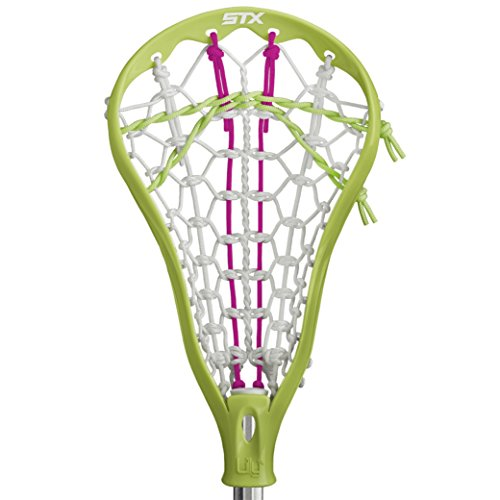 STX Lacrosse Lilly Complete Beginners Stick with Lime Head with Beginners AL6000 Lacrosse Shaft (Best Lacrosse Stick For Beginners)