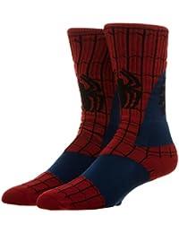 Super Hero Marvel Comics Spiderman Suit Up Crew Socks
