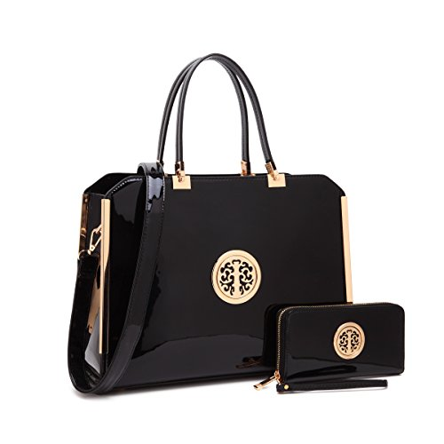 MMK collection Women Fashion Matching Satchel handbags with wallet(2597/0326)~Designer Purse for Women ~ Perfect Women Purse and wallet~ Beautiful Designer Handbag Set (01-6900 (Womens Executive Briefcase)