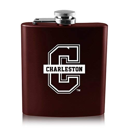 【保障できる】 大学のcharleston-6オンスカラーステンレススチールflask-burgundy B0188IT538 B0188IT538, 佐々町:ef95fe34 --- digitalmantraacademy.com