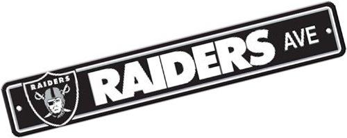 Fremont Die NFL Oakland Raiders Plastic Street Sign
