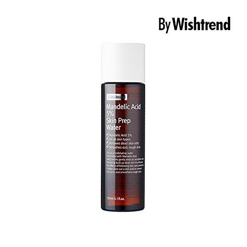 Mandelic acid 5% Skin prep water, facial exfoliate, aha toner, 120ml, 4.06oz