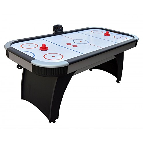 Carmelli NG1029H Silverstreak 6' Air Hockey Table with LED Electronic Scoring Unit High Gloss Playing Surface and Arched Pedestal