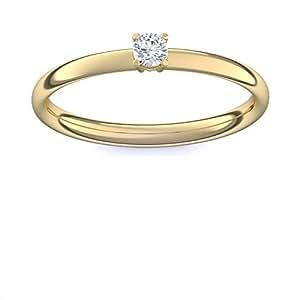 Compromiso anillos oro con Swarovski piedra + estuche! Gold Ring anillo oro circonios tales como el diamante de regalo anillos matrimonio boda compromiso regalos para las mujeres - AM161 VGGGZIFA