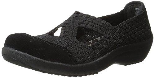 Skechers Women's Savor-Entice Fashion Sneaker,Black,7 M US