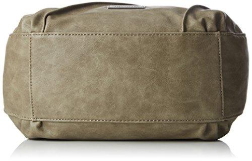 Tamaris Damen Jutta Handbag Henkeltasche, 11x33x24 cm Grün (Khaki)