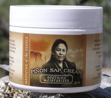 Navajo Medicine of the People Pinon Sap Cream - Sunburn, Burns (including radiation burns), Minor Cuts, Scrapes and Rough-Dry Hands & Feet 2 OZ, Outstanding Product