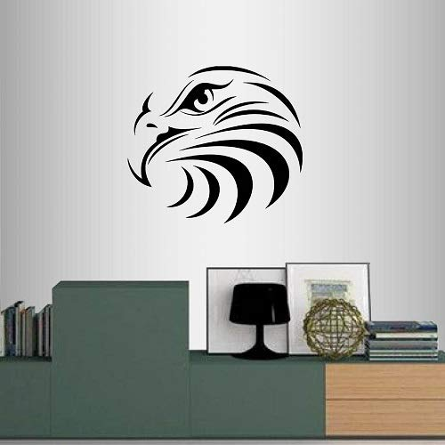 Eagle Head Wall Decor - Wall Vinyl Decal Home Decor Art Sticker Eagle Heads Wild Bird Room Removable Stylish Mural Unique Design 2229