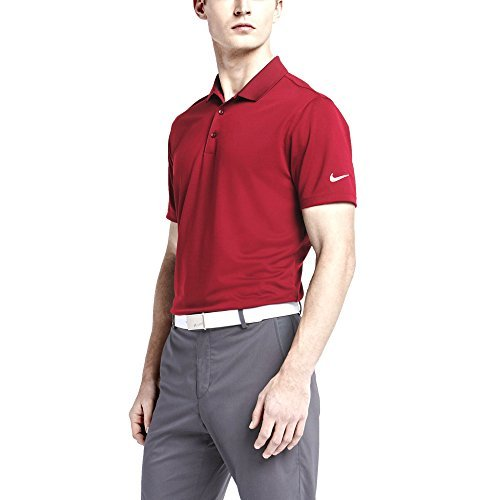 lf Solid Polo Shirt (Red, Large) ()