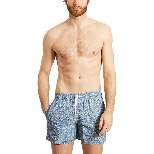 Apnee Reflection Swimming Trunks Summer Collection Men Navy Blue