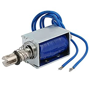 uxcell DC24V 30W 15N/10mm Open Frame Push Type Solenoid Electromagnet ZYE1-0630Z