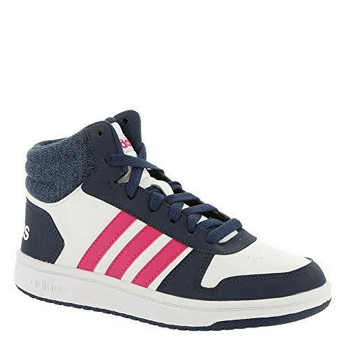 id 2.0 Basketball Shoe, White/Real Magenta/Trace Blue, 5.5 M US Big Kid ()