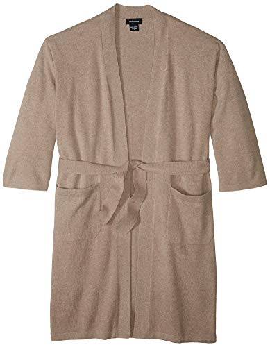 a & R Cashmere BW106SND Cashmere & Wool Robe, One Size, Sand