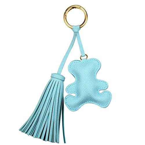 Bear Enamel Key Ring - Fashion Key Chain Accessories PU Leather Tassel Key Ring Cloth Bear Pattern Car Keychain Jewelry Bag Charms Jewelry FT165