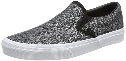Vans Classic Slip-On, Zapatillas Unisex Adulto Negro (Embossed Stingray black)
