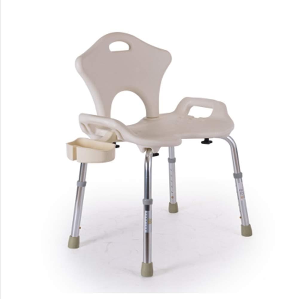 シャワーチェアアルミ多機能浴室椅子は座席の幅を広げる6セグメント高さ調整高齢者看護チェア妊婦障害者入浴チェア U 字型 B07GLSCH6T