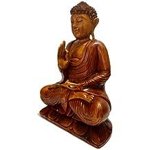 18 Inch Oriental Furniture Elegant Beautiful Fine Quality Buddhist Art, Large Buddha Sculpture Sitting Thai Buddha Statue Figure