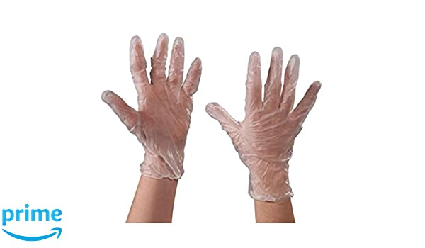 Small RetailSource GLV2041Sx1 Vinyl Gloves 3 Mil Pack of 100 Powder Free RetailSource Ltd Clear