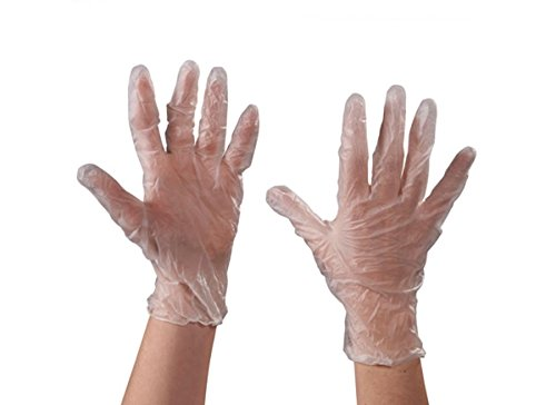 Pack of 100 Clear Small RetailSource GLV2040Sx1 Vinyl Gloves/  3 Mil Powdered RetailSource Ltd