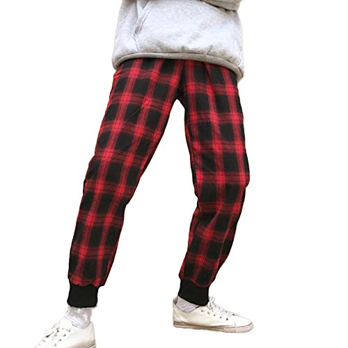 Impresión Slim Rojo En Casuales De Grandes moda Sylar Deportivos A Fit Pantalones Haz Cuadros Oferta Tallas Mujer wqPxgX8C