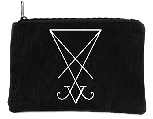 The Sigil of Lucifer Seal of Satan Cosmetic Makeup Bag Alternative Occult Accessories -