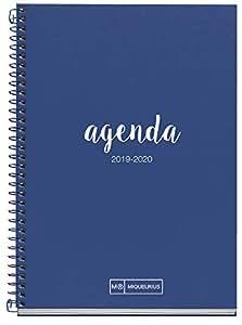 Miquelrius Agenda Escolar 2019 2020 Día Página Lettering Marino Euskera 117x174 mm