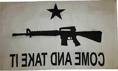 Mikash 3x5 Come and Take It White M-4 2nd Amendment 210D Nylon Flag 3x5 | Model FLG - -
