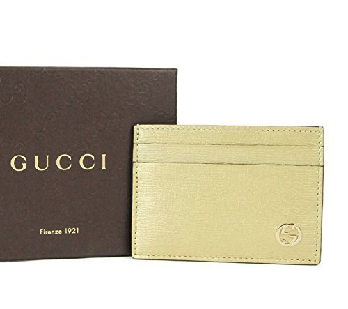 Gucci Gold Shiny Leather Betty GG Logo Card Case Holder 334483 7100