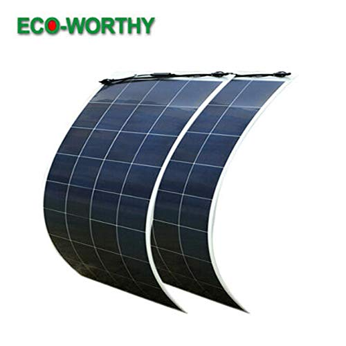ECO-WORTHY 2Pcs 150W Bendable PV Solar Panel Module for RV