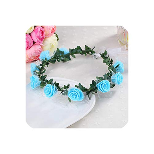 Plant Women Girl Bride Hair Wreaths Flower Headband Rose Crown Forehead Floral Band For Party Wedding Hand - Wreath Etsy