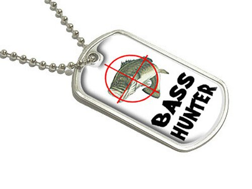 basses Hunter–Poisson Pêche pêcheur–Military Dog Tag bagages Porte-clés Graphics and More